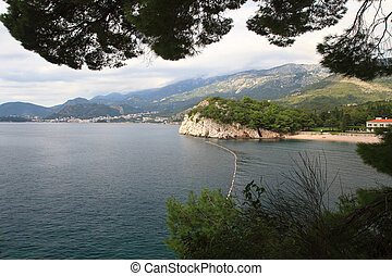 Adriatic coast Montenegro - Coast of the Adriatic Sea, Budva...