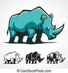Rhinoceros Symbol.