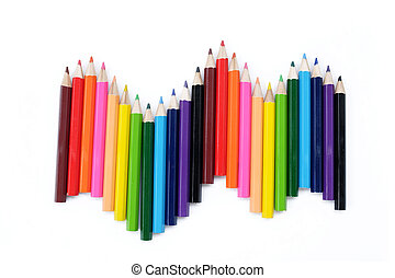 colored pencil background - A colored pencil, coloured...