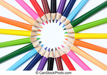 colored pencil cycle - A colored pencil, coloured pencil see...