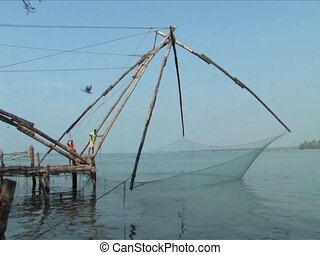 Chinese nets - Chinese fishing nets found in Cochin, India