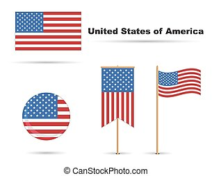 set of usa flags