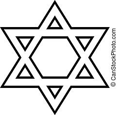 Magen David icon on white background. Vector illustration.