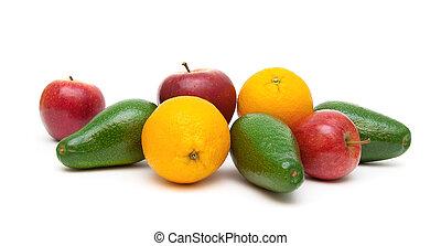 fruit closeup isolated on white background