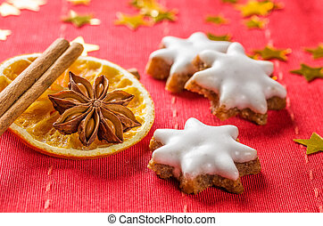 Cinnamon biscuits and christmassy spices