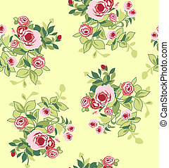 seamless flower print element wallpaper pattern
