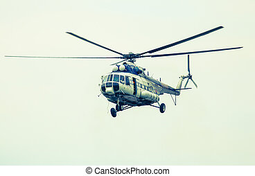 Helicopter Mil Mi-17 at airshow - SLIAC, SLOVAKIA - AUGUST...