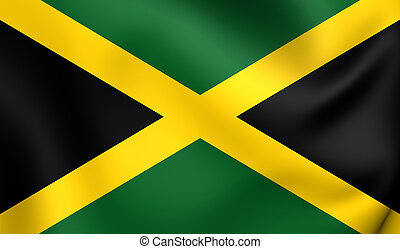 Flag of Jamaica Close Up