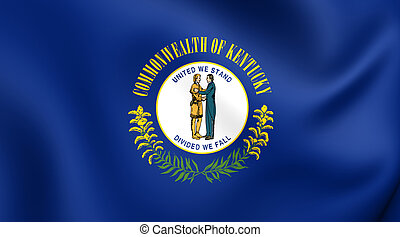 Flag of Kentucky, USA Close Up