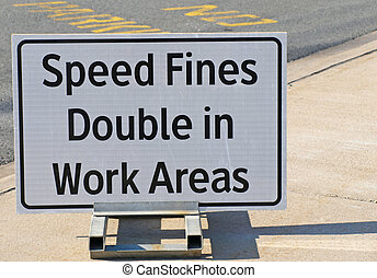Speed Fines Sign