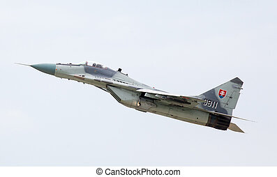 Airplane Mig-29 Fulcrum - SLIAC, SLOVAKIA - AUGUST 30:...