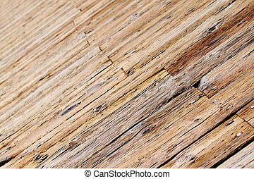 Boardwalk - Close up of an wooden brown boardwalk