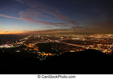 Los Angeles Night Valley View - Los Angeles San Fernando...