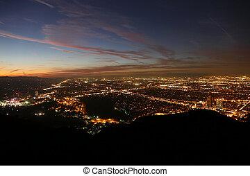 Los Angeles Night Valley View - Los Angeles San Fernando...