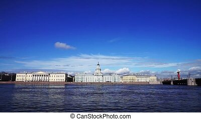 View at Kunstkamera museum, St Petersburg, Russia - Neva...