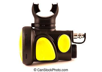 Secondary (octopus) scuba diving regulator - close up