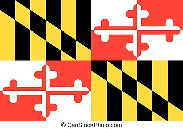 The flag of the United States of America State - Maryland -...