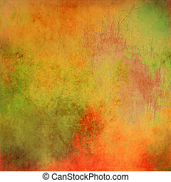 Orange pastel and scratched background