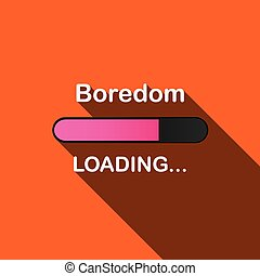 Long Shadow Loading Illustration - Boredom - A Long Shadow...
