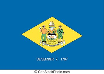 The flag of the United States of America State - Delaware -...