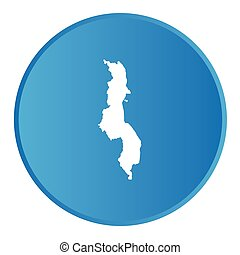 3D button with the outline of the country of Malawi