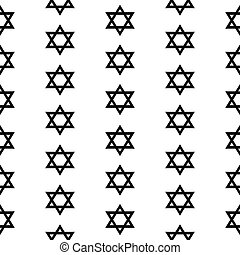 Magen David seamless pattern on white background. Vector...