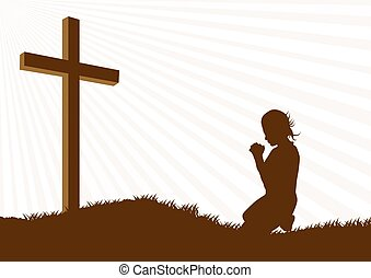 Kneeling prayer Illustrations and Clipart. 318 Kneeling prayer ...