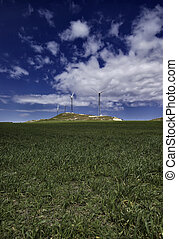 Eolic energy turbines - ITALY, Sicily, FrancofonteCatania...