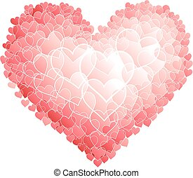 Red heart - Heart shape consist of small hearts. Eps8. RGB....