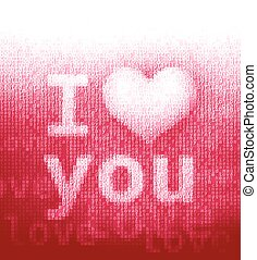 I love you - Phrase I love you in word cloud Eps8 RGB Global...