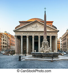 Pantheon, Rome - Italy - Pantheon at dawnt, Rome, Italy.