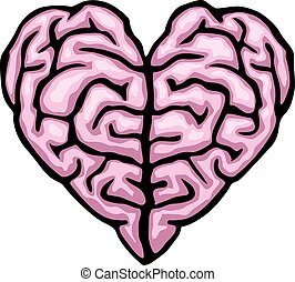 Brain heart. Eps8. CMYK. Global colors.Gradients free