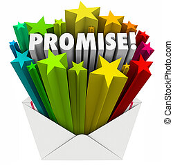 Promise Word Guarantee Oath Vow Pledge Obligation Note in...