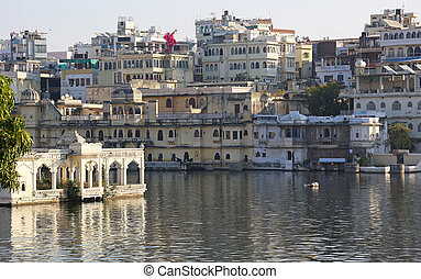 Udaipur Rajasthan India - Udaipur at the Lake Pichola in...