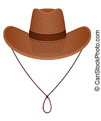 cowboy hat vector illustration isolated on white background