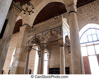Tarsus-Turkey - Interior  of Ulu Mosque in Tarsus ,Turkey