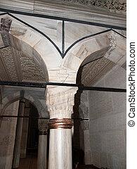 Tarsus-Turkey - Interior  of Ulu Mosque in Tarsus ,Turkey