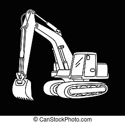 Excavator icon  - Vector illustration of Excavator icon