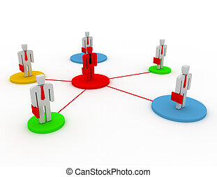 business network. group leader