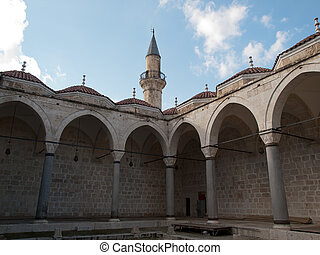 Tarsus-Turkey - Courtyard of Ulu Mosque in Tarsus ,Turkey