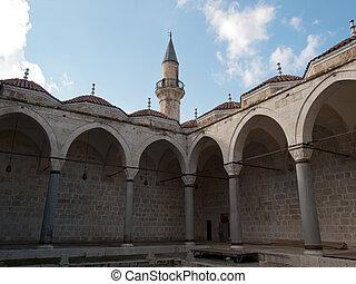 Tarsus-Turkey - Courtyard of Ulu Mosque in Tarsus ,Turkey