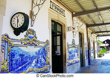 railway station of Pinhao, Douro Valley, Portugal