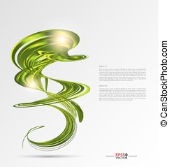 Abstract vector background template for text inclusion
