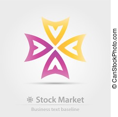 Stock market business icon