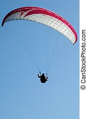 Paragliders in France - Silhouette of a paraglider