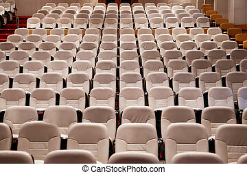 empty seat in conference meeting hall