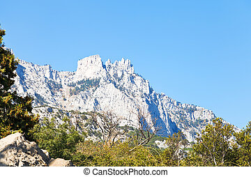 Ai-Petri peaks, Crimea - view of Ai-Petri peaks from Alupka...