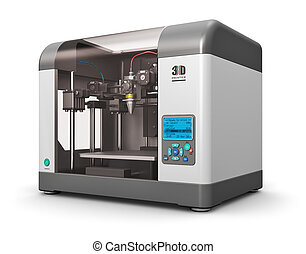 3D printer - Creative abstract new technologies concept:...