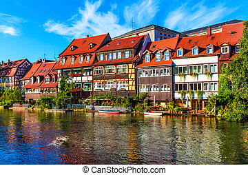 Old Town in Bamberg, Germany - Scenic summer panorama of the...