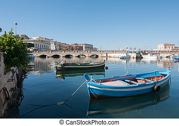 Beautiful Syracuse - View of Umberto I bridge in Siracuse...